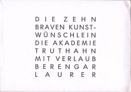 Berengar Laurer 10 brave Kunstwünschlein